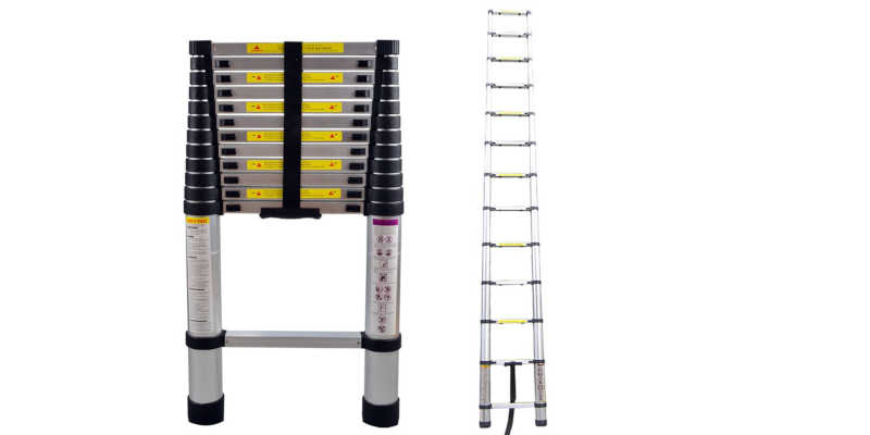 Escalera telescópica de aluminio LARS360 DE 3,8 m escalera escaleras precio precios comprar oferta ofertas barato barata baratos baratas oferta ofertas rebaja rebajas