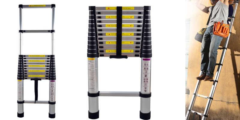 Escalera telescópica de aluminio escalera escaleras precio precios comprar oferta ofertas barato barata baratos baratas oferta ofertas rebaja rebajas